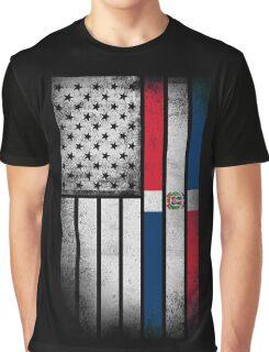 Dominican American Flag - Half Dominican Half American  Graphic T-Shirt