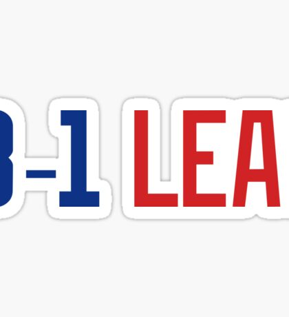 Chicago Cubs_World Series Champs_3-1 Lead_Blue Red Sticker