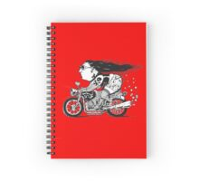 Lady Biker Spiral Notebook
