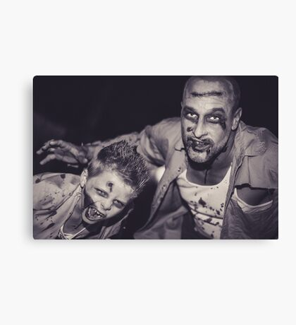 The Walking Dad and Son Canvas Print