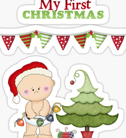 Christmas Products - Baby's First Christmas Sticker