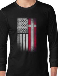 Danish American Flag - Half Dane Half American  Long Sleeve T-Shirt