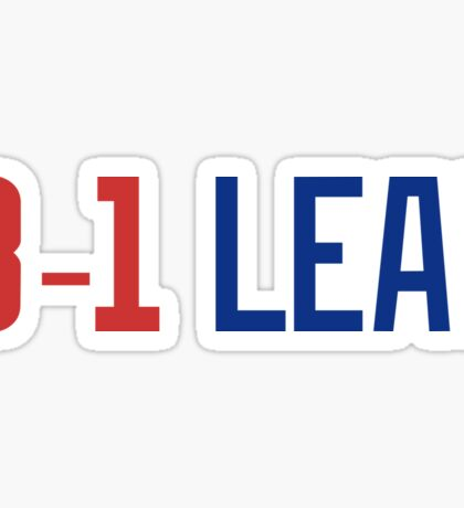 Chicago Cubs_World Series Champs_3-1 Lead_Red Blue Sticker