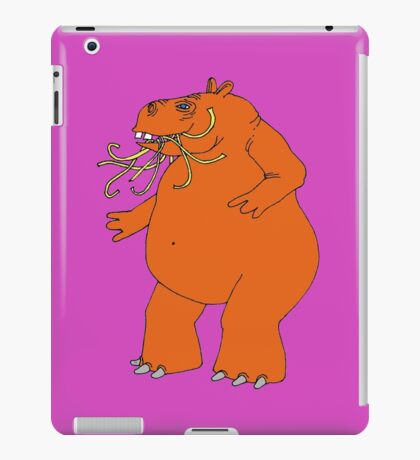 Hungry Hungry Hippo Escapes Picture Plane! iPad Case/Skin