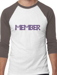 Memberberries Member |Black Men's Baseball ¾ T-Shirt