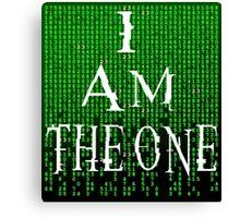 I Am The One - The Matrix Canvas Print