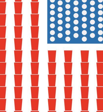 Beer pong champ flag Sticker