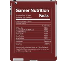 Gamer Nutrition Facts iPad Case/Skin