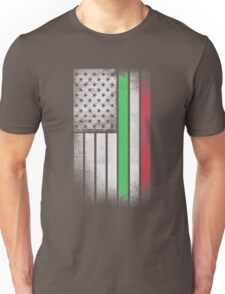 Italian American Flag - Half Italian Half American Unisex T-Shirt