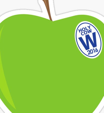 green apples - cubs world series champs Sticker