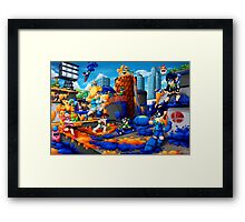 Super Splat Bros Framed Print