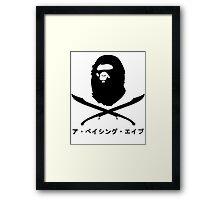Bape x Pirate Framed Print