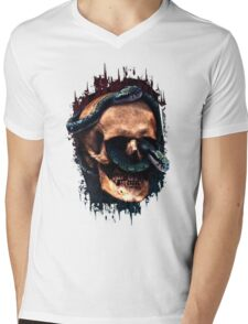 Snakeskull Mens V-Neck T-Shirt