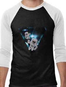 Puppies Lost in Space Men's Baseball ¾ T-Shirt