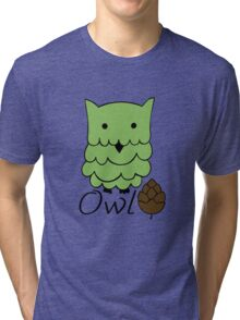 Cute cartoon owls Tri-blend T-Shirt