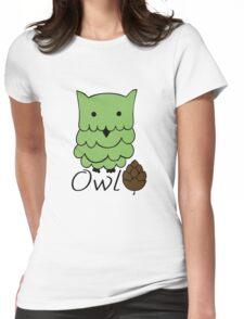 Cute cartoon owls Womens Fitted T-Shirt