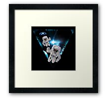 Puppies Lost in Space Framed Print