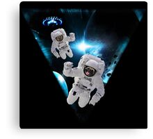 Puppies Lost in Space Canvas Print