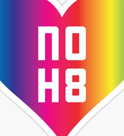 NO H8 - No Hate - Equality Rainbow Heart  Sticker