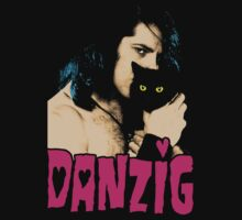 DANZIG Black Cat T-Shirt THE MISFITS by betaville