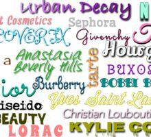 High End Make Up Brands Sticker