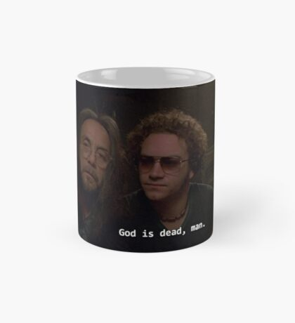 god is dead, man. Mug