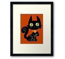 Pretty Black Cat Framed Print