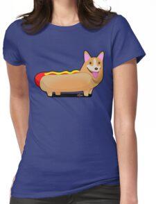 Corgi Hotdog Womens Fitted T-Shirt