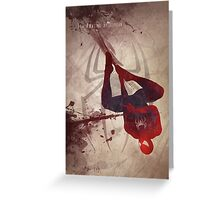 The Amazing Spiderman Greeting Card