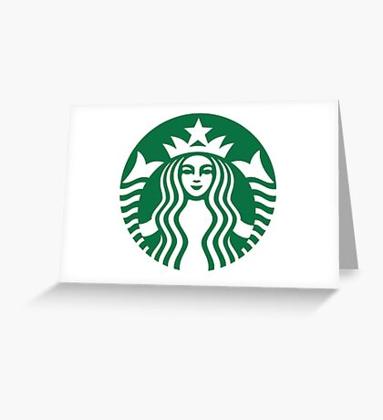 starbucks logo greeting cards  redbubble, Greeting card