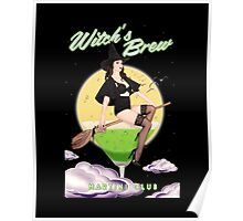 Witch's Brew Martini Club Poster