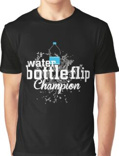 Water Bottle Flip Challenge Champion Graphic T-Shirt