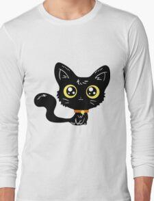 Adorable Black Cat Long Sleeve T-Shirt