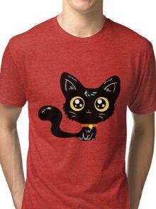 Adorable Black Cat Tri-blend T-Shirt