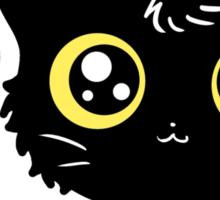 Adorable Black Cat Sticker