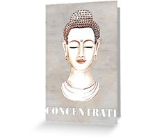 Buddha - Concentrate Greeting Card
