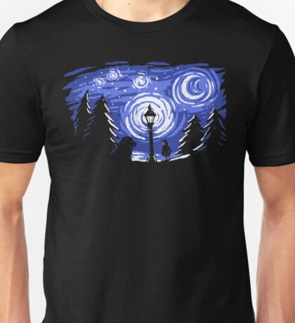 Starry Winter Night Unisex T-Shirt