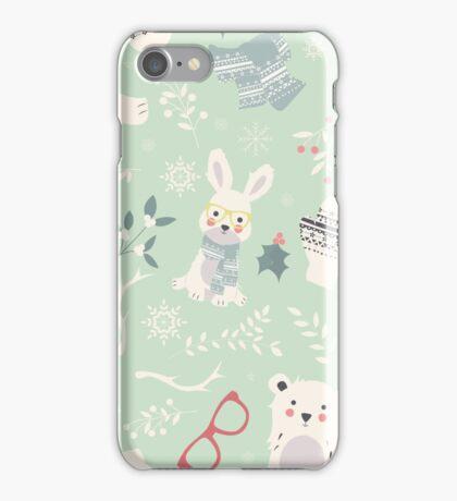 Christmas animal pattern, 002 iPhone Case/Skin
