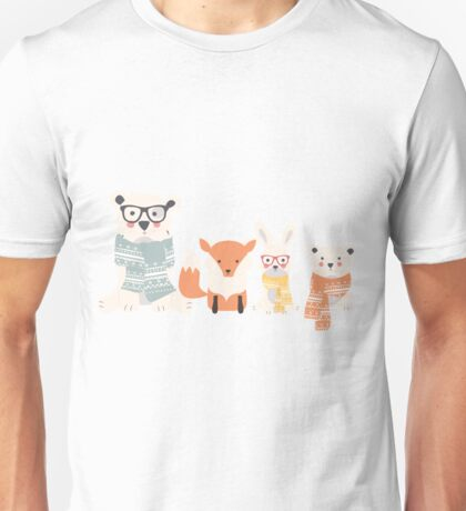 Christmas animal pattern, 002 Unisex T-Shirt