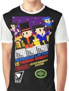 Professor Layton VS Phoenix Wright NES Graphic T-Shirt