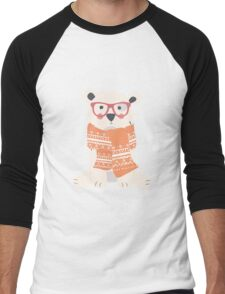 Hipster polar bear Men's Baseball ¾ T-Shirt