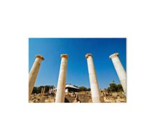 Israel, Bet Shean ancient columns found on the site,  Gallery Board