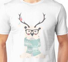Hipster polar bear Unisex T-Shirt