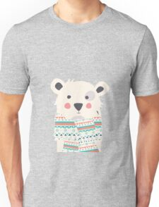 Cute polar bear with scarf Unisex T-Shirt