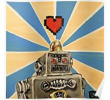 Tin Robot :: 8 Bit Love Machine Poster