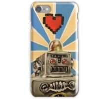 Tin Robot :: 8 Bit Love Machine iPhone Case/Skin