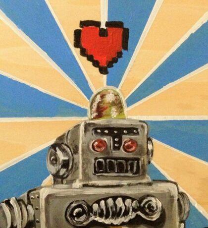 Tin Robot :: 8 Bit Love Machine Sticker