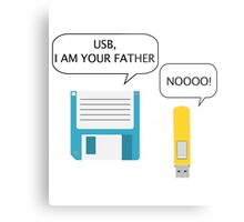 USB I Am Your Father Metal Print