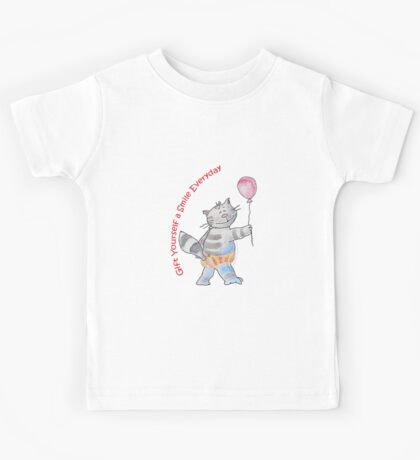 Gift Yourself a Smile Everyday (Original Art by Alice Iordache) Kids Tee
