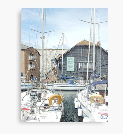 The Master Marina at Brighton Marina Metal Print
